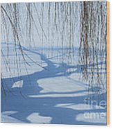 Snow Shadows I Wood Print