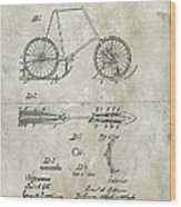 Snow Shoe Attachment For Bicycles Patent 1896 Wood Print