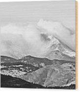 Snow Storm On The Twin Peaks Longs And Meeker Wood Print