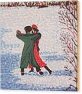 Snow Tango Wood Print