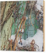 Snow Vines Wood Print
