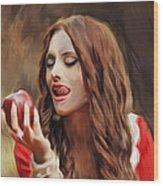 Snow White Wood Print by Hazel Billingsley