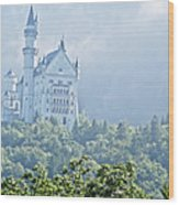 Snow White's Palace In Morning Mist Wood Print