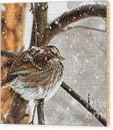 Snowball Wood Print