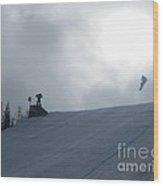 Snowboard Slopestyle Competiton Wood Print