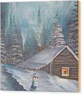 Snowbound Holiday Wood Print