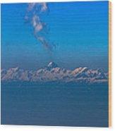 Snowcanic Ash Cloud  Wood Print
