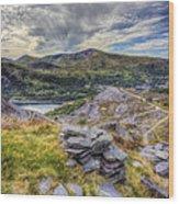 Snowdon Moutain Range Wood Print