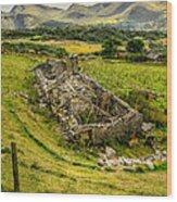 Snowdon Ruin Wood Print