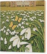 Snowdrop Day, Hatfield House Wood Print