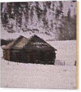 Snowed In Wood Print by Kevin Bone