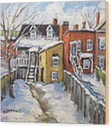 Snowed In Yards By Prankearts Wood Print