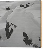 Snowface Mother Earth  Protecter Ischgl Austria Wood Print