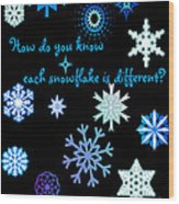 Snowflakes 2 Wood Print by Methune Hively