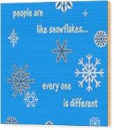 Snowflakes 5 Wood Print