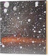 Snowflakes And Orbs Wood Print