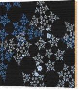 Snowflakes By Jammer Wood Print