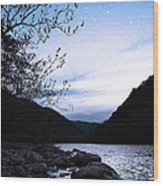 Snowflakes On The River Wood Print