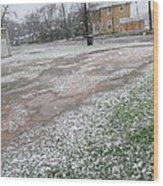 Snowing Wood Print by Rosalie Klidies