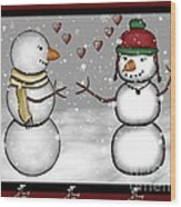 Snowman Christmas 4 Wood Print