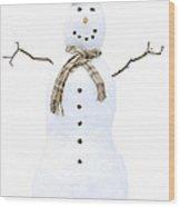 Snowman Wood Print