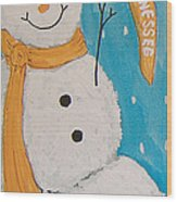 Snowman University Of Tennessee Wood Print