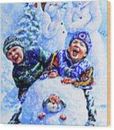 Snowmen Wood Print
