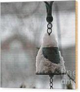 Snowy Bell Wood Print