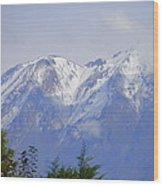 Snowy Blue Mountains Wood Print