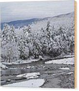 Snowy Catskill Creek  Wood Print