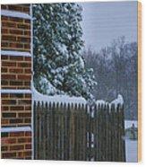 Snowy Corner Wood Print by Steven Ainsworth