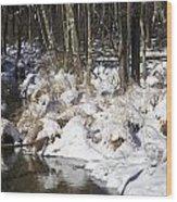 Snowy Creek Wood Print