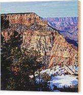Snowy Grand Canyon Vista Wood Print