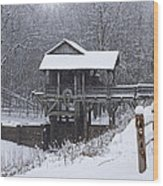 New Salem Grist Mill In The Snow Clr Wood Print