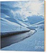 Snowy Highway Wood Print