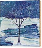 Snowy Moment Wood Print