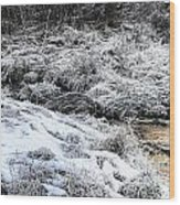 Snowy Mountain Stream V2 Wood Print