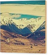Snowy Mountains Wood Print