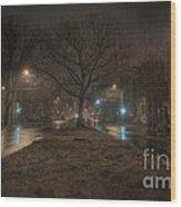 Snowy Nights Wood Print