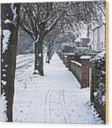 Snowy Path Wood Print by Tom Gowanlock