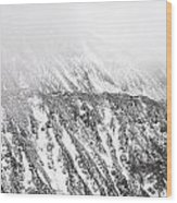 Snowy Ridge Abstract Wood Print