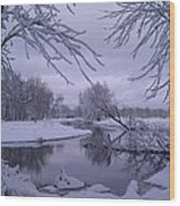 Snowy River Bend Wood Print