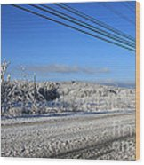 Snowy Roads Wood Print by Michael Mooney