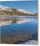 Snowy Shoreline Wood Print