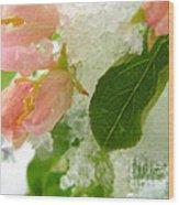 Snowy Spring 1 - Digital Painting Effect Wood Print