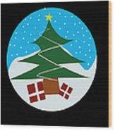 Snowy Tree Wood Print by Kenneth Feliciano