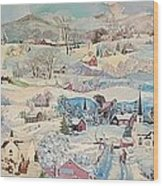 Snowy Village - Sold Wood Print