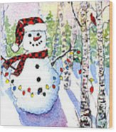 Snowy Wishes Wood Print