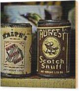Snuff Tins Wood Print