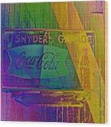 Snyders Garage Wood Print